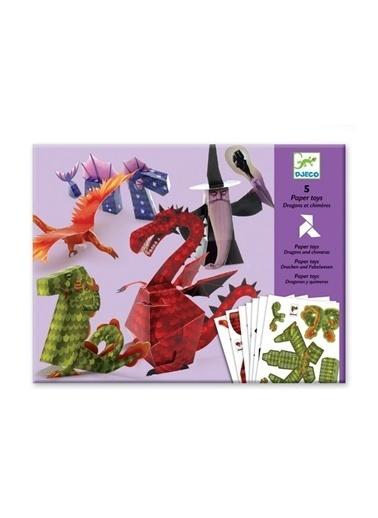 Djeco Djeco Kağıt Oyuncaklar/Dragons And Chimeras Pembe
